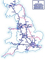 Great Britain road map