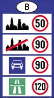 Belgium speed limits