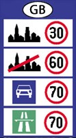 Great Britain speed limits
