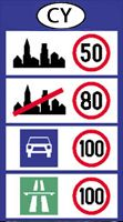 Cyprus speed limits