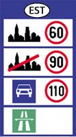 Estonia speed limits