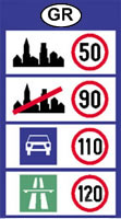 Greece speed limits