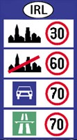 Ireland speed limits