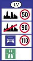 Latvia speed limits