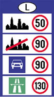 Luxembourg speed limits