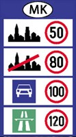 Macedonia speed limits