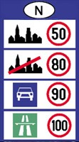 Norway speed limits