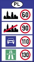 Poland speed limits