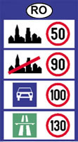 Romania speed limits